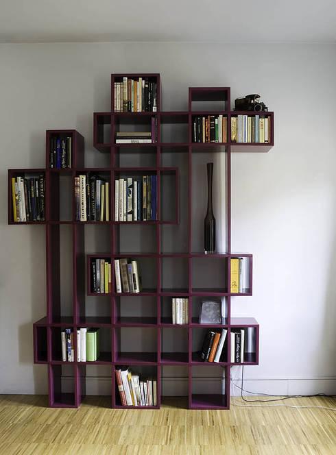 Modernos libreros totalmente al estilo bauhaus for Bauhaus madera a medida