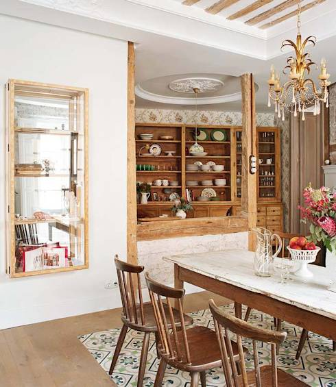 30 Incredible Eclectic Dining Designs: Amazing Large Corner Shelves