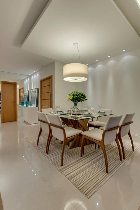 Sala De Jantar Laca Branca ~ Projeto Salas de jantar modernas por carla felippi arquiteta