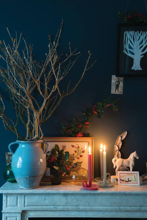 Christmas '14: modern Living room by Farrow & Ball