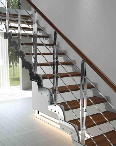 Pasillos, vestíbulos y escaleras  de estilo translation missing: ar.style.pasillos-vestíbulos-y-escaleras-.moderno por Rintal