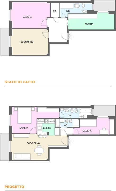 La sorprendente ristrutturazione di un piccolo for Progetto casa rettangolare