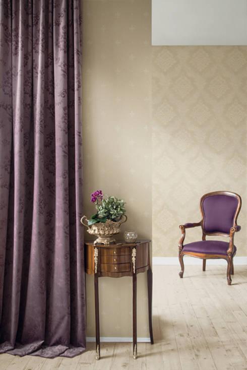 diy selbstgemachte tapeten aus textil. Black Bedroom Furniture Sets. Home Design Ideas