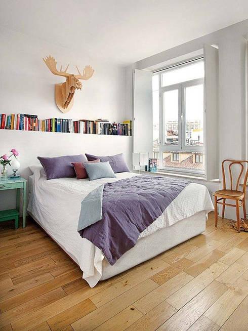 10 tips om je slaapkamer groter te laten lijken for Plank boven bed