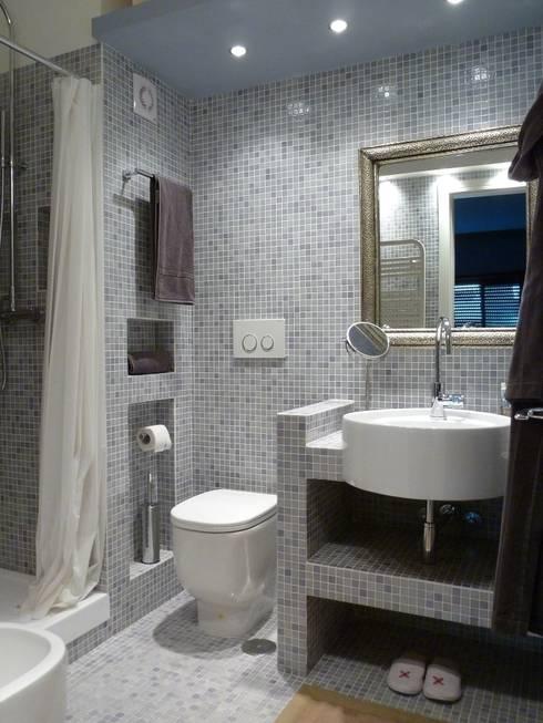 Idee per il bagno via la vasca per un box doccia moderno for Bagno piccolo con vasca