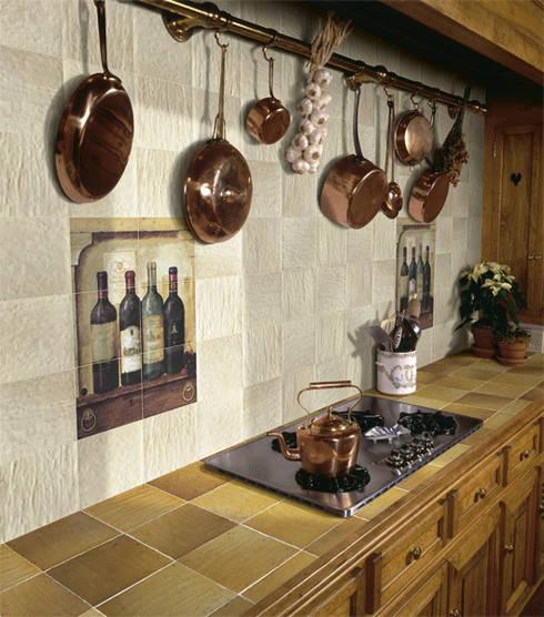 12 ideas para revestir tu cocina con baldosa r stica - Baldosas para cocina ...