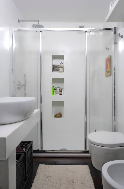 5 idee per salvare spazio in un bagno piccolo - Bagno piccolo con doccia ...