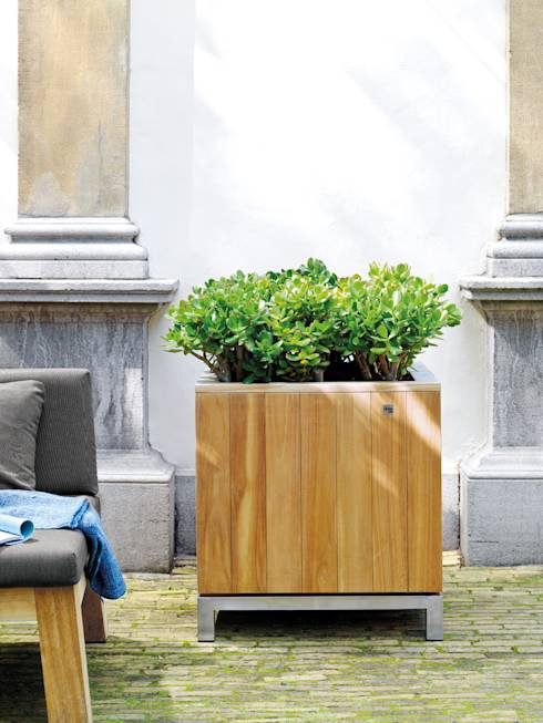 jardineras de madera para interior y exterior. Black Bedroom Furniture Sets. Home Design Ideas
