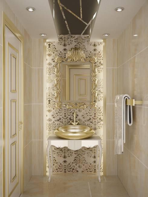 Ba os modernos 10 espejos para verte mejor for Espejo dorado bano