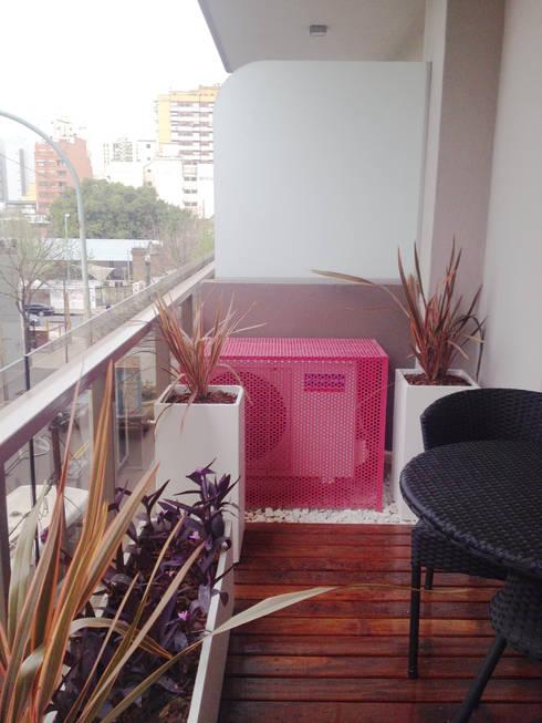 Come sfruttare al meglio un balcone piccolo - Condizionatore unita esterna piccola ...
