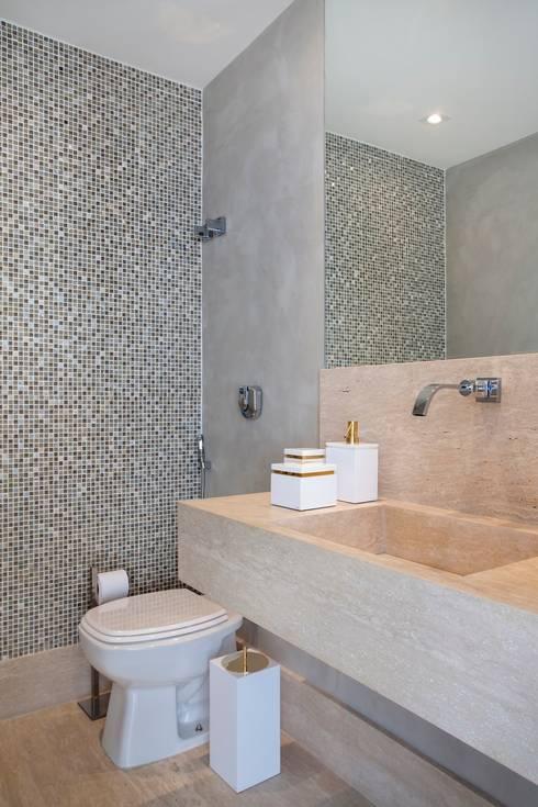 50 grandes ideias para decorar banheiros pequenos -> Pia Banheiro Estreita