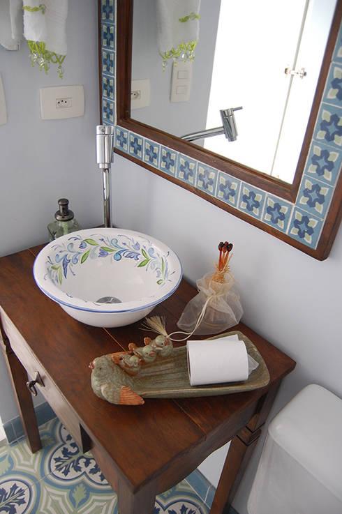 Estilo rústico para banheiros pequenos -> Decoracao De Banheiro Estilo Rustico