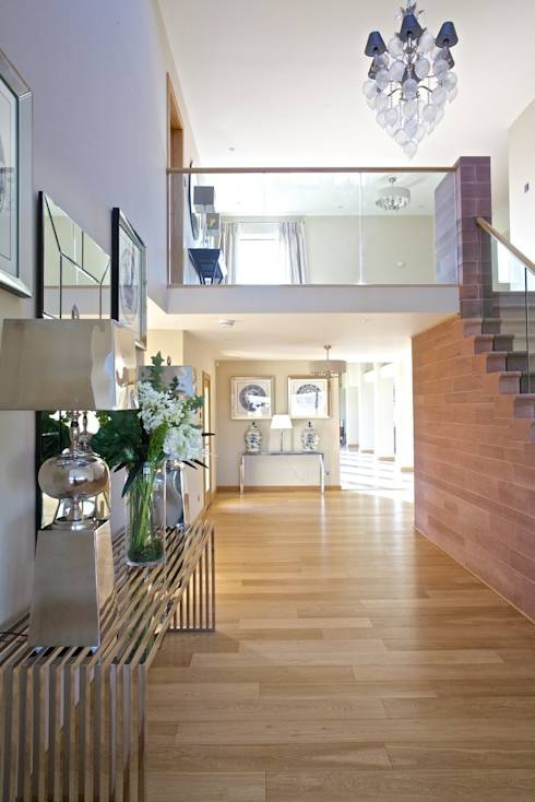modern Corridor, hallway & stairs by adam mcnee ltd