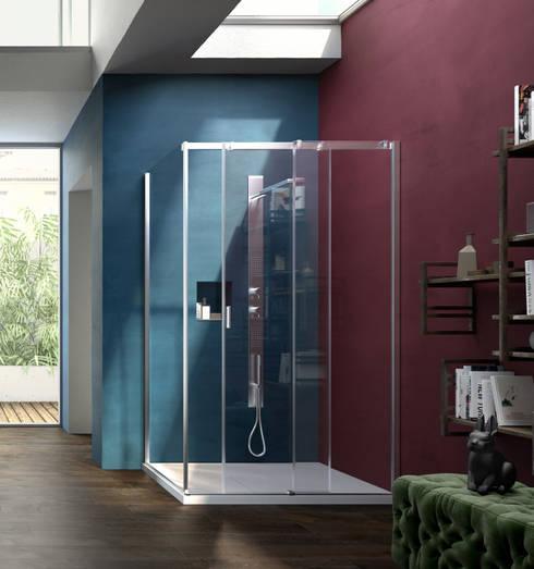 10 fantastici bagni moderni con doccia - Box doccia colorati ...