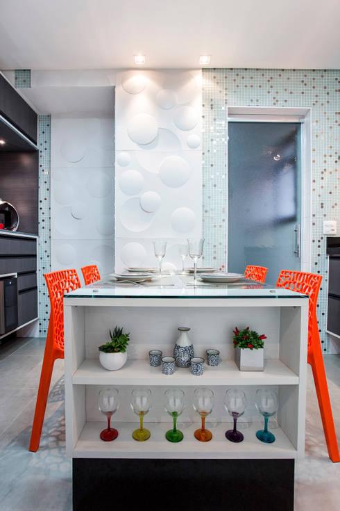 Cocinas de estilo moderno de Amanda Pinheiro Design de interiores