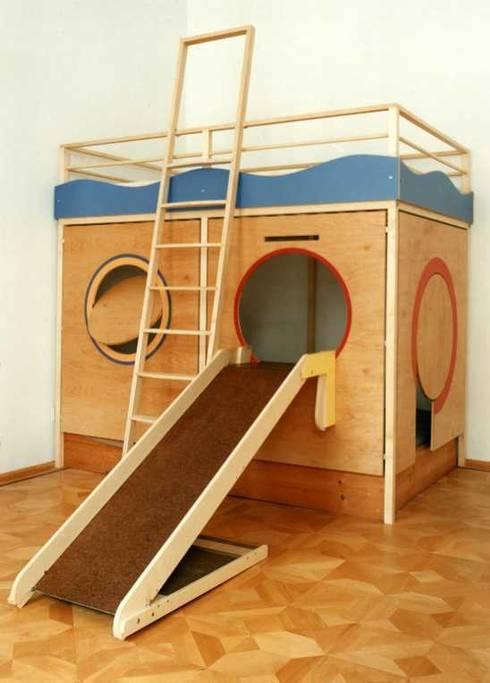 La cameretta soppalco per i bambini - Letto con sbarre per bambini ...