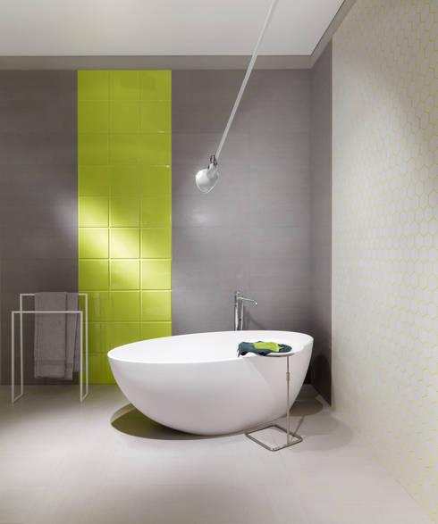 Il rivestimento bagno tra piastrelle e gres porcellanato - Rivestimento bagno design ...