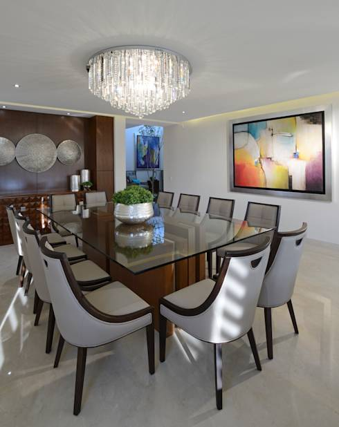 Comedor Casa GL: Comedores de estilo moderno por VICTORIA PLASENCIA INTERIORISMO