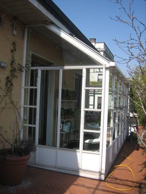 Una veranda per il terrazzo e anche in inverno - Costruire veranda in giardino ...