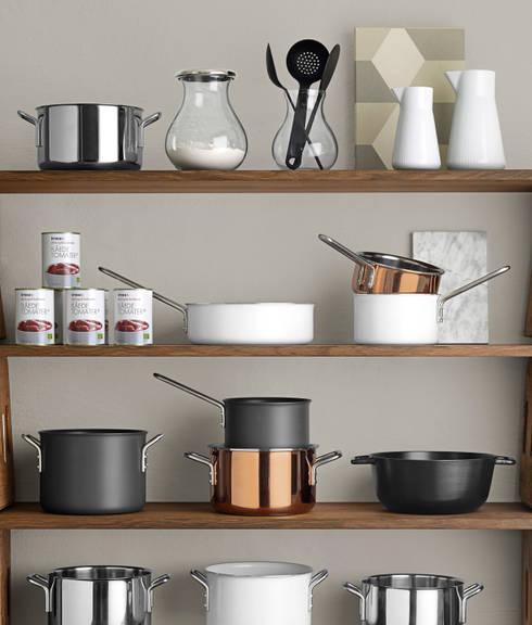 Le mensole moderne per decorare pareti e stanze - Mensole cucina moderna ...