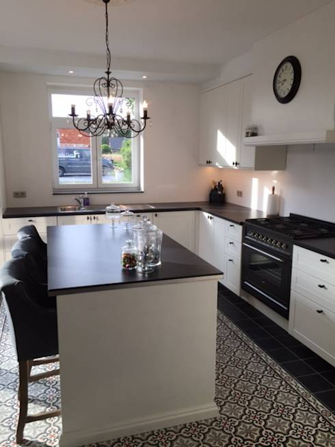 Witte keuken welke kleur vloer beste inspiratie voor huis ontwerp - Kleur witte keuken ...