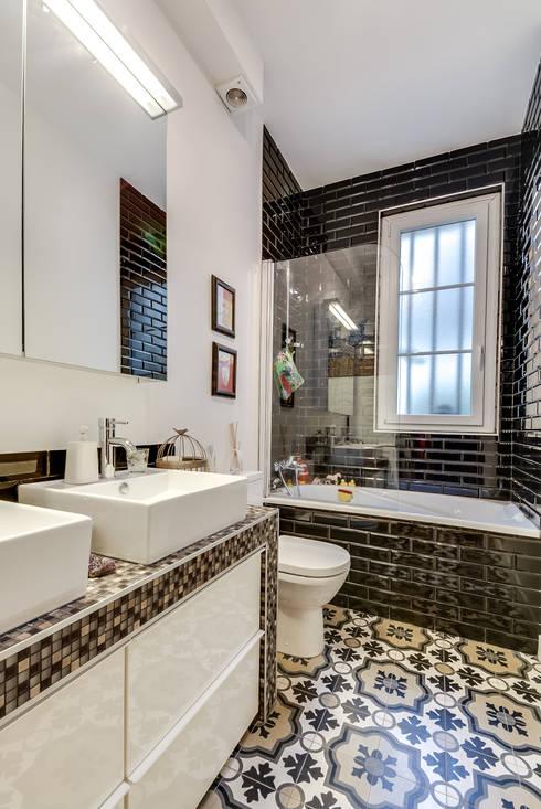 quel design pour une salle de bains classique. Black Bedroom Furniture Sets. Home Design Ideas