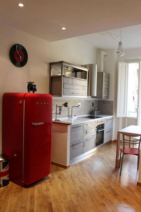 Dove mettere i mobili e gli elettrodomestici in cucina - Cucina con frigo smeg ...
