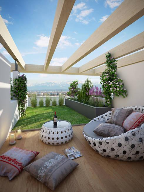 12 ideas para tener una terraza moderna en la azotea for Construccion de casas en terrazas