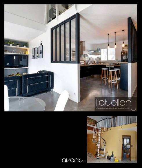 comment s parer la cuisine de la salle de s jour. Black Bedroom Furniture Sets. Home Design Ideas