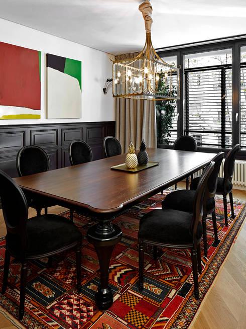 Elegante woning met een eigentijdse stijl - Eigentijdse eetkamer decoratie ...