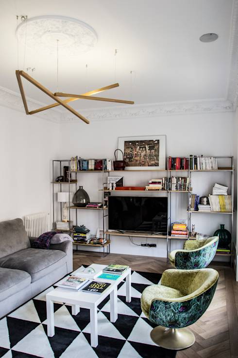 Salas de estar ecléticas por Viteri/Lapeña