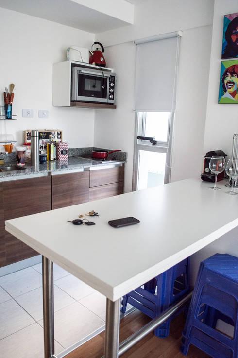 7 soluciones inteligentes para una cocina peque a y moderna - Disenar una cocina pequena ...