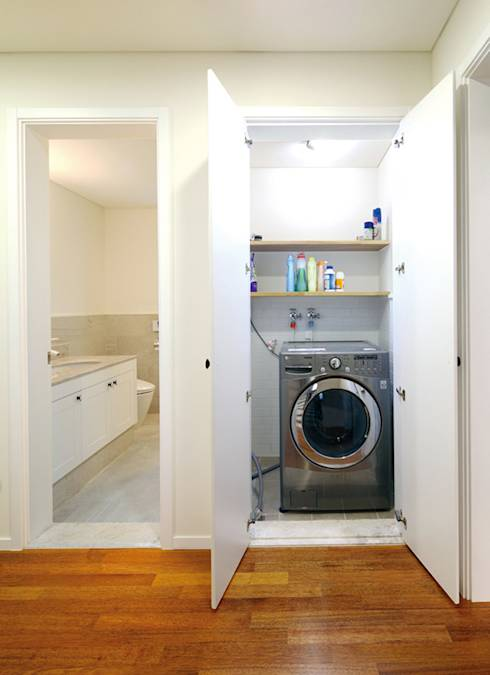 21 pictures of smart ideas for laundries - Colonne lave linge seche linge ...