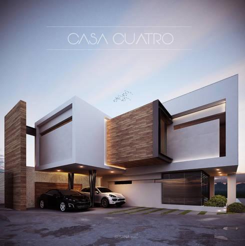 36 fachadas de dos pisos que te dar n ideas para dise ar for Lampara de piso minimalista