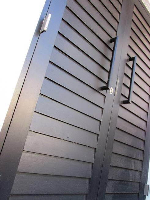 Shiplap Double Doors : modern Windows & doors by Window + Door Store Cape