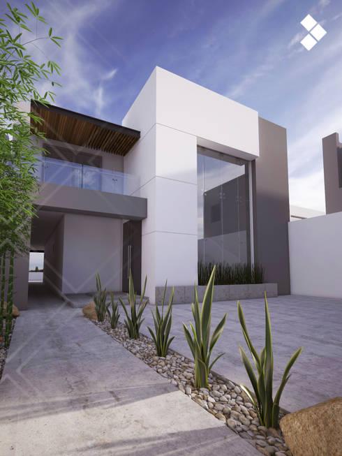 24 ideas para la entrada de tu casa sencillas pero bonitas for Fachadas de entradas de casas modernas