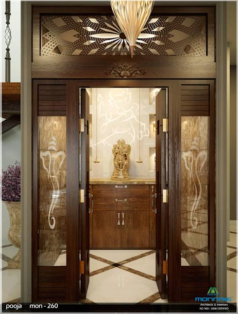 10 pooja room door designs for your home : pooja from www.homify.in size 490 x 645 jpeg 49kB