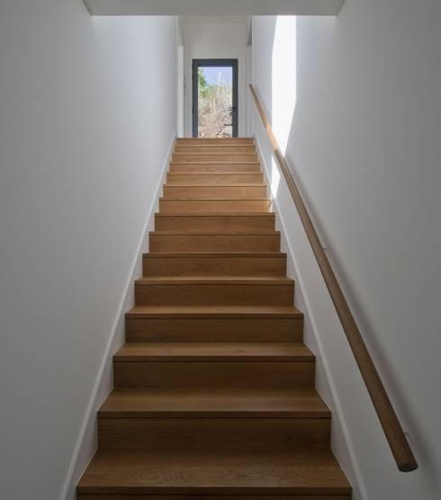 Escada: Corredores, halls e escadas minimalistas por Mayer & Selders Arquitectura
