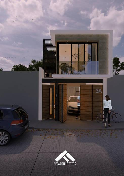 29 fachadas de casas que te dejar n la cabeza llena de ideas for Fachadas de casas de 5 metros de ancho