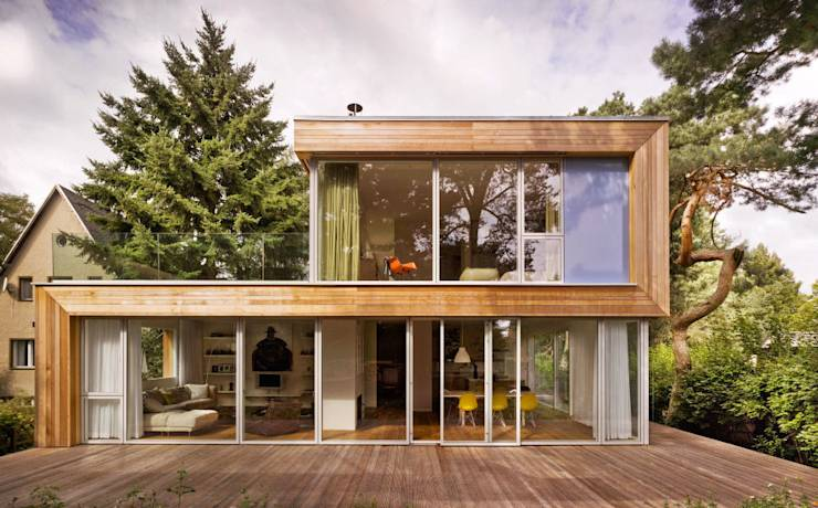 11 sensationelle h user mit viel glas for Modernes containerhaus