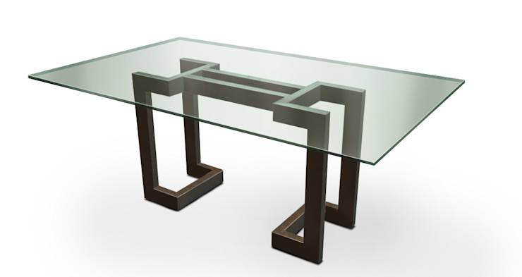 L nea alto dise o mesas de comedor de gonzalo de salas for Comedor negro de vidrio