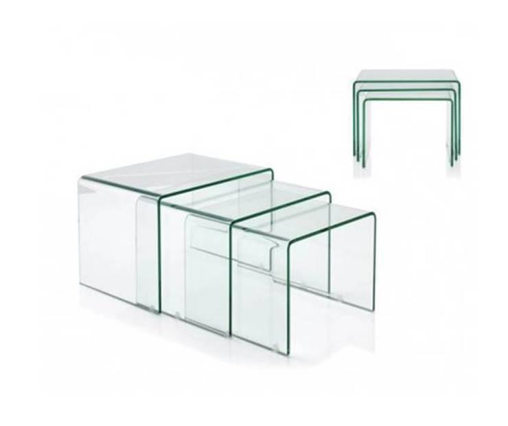 Mesas extensibles m s dise o en menos muebles - Mesas nido cristal ...