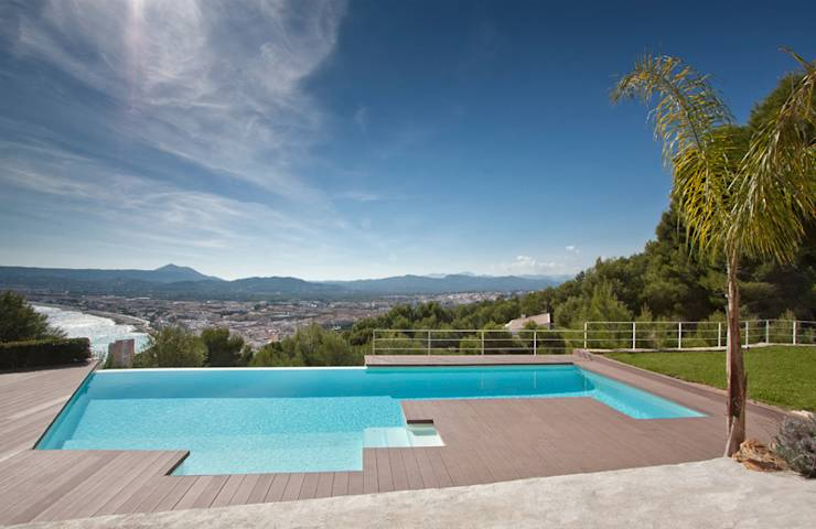 Piscina infinity de gunitec concept pools homify for Gunitec piscinas