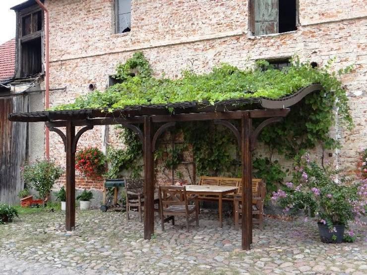 Jardines de estilo  por EcoCurves - Bespoke Glulam Timber Arches