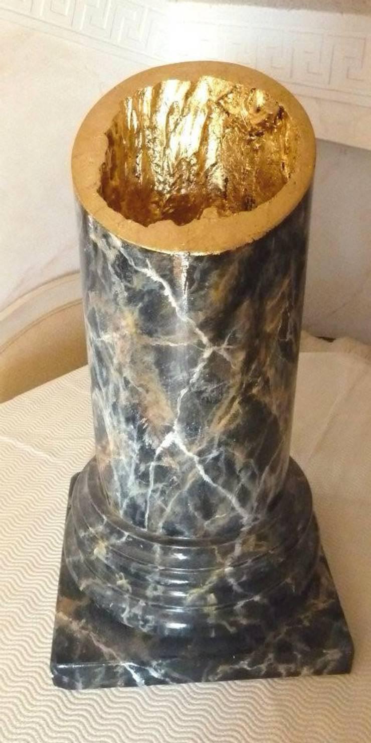 Lampen mit Blattgold -Silber -Strass -Glas von Illusionen mit Farbe ...