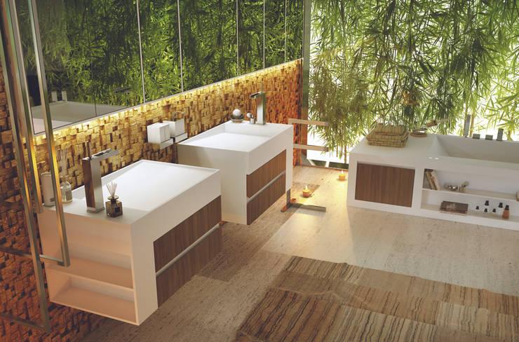 Baño De Tina Con Hierbas:Baños de estilo translation missing: mxstylebañosmoderno por