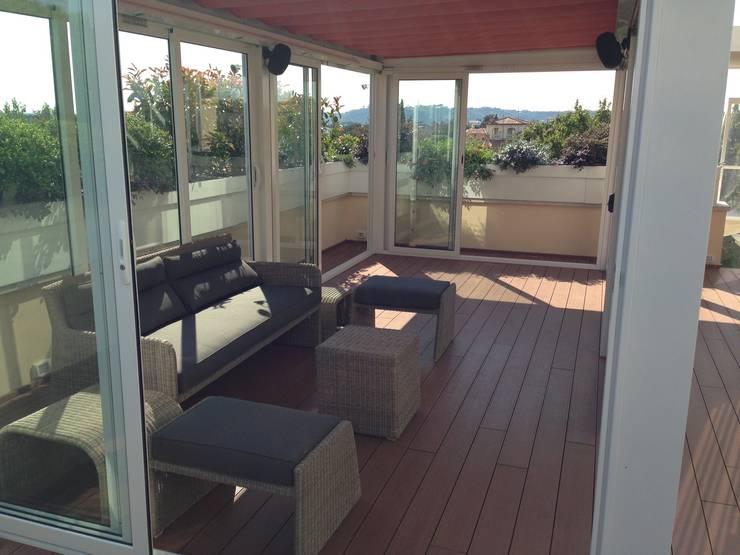 Verande per balconi per regalare nuovo spazio alla tua casa - Cucina sul terrazzo ...
