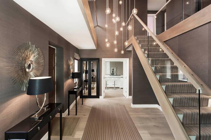modern Corridor, hallway & stairs by Emma Hooton Ltd