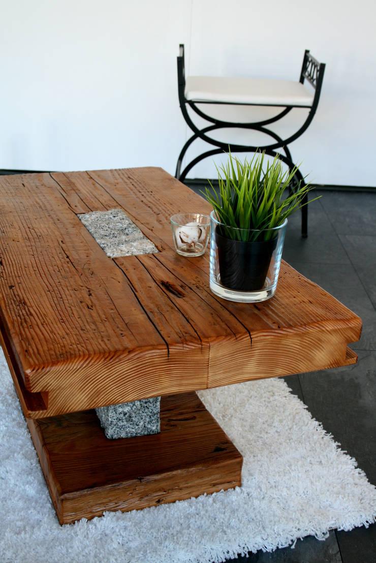 Couchtisch Granit  Designmöbel aus antikem Holz von