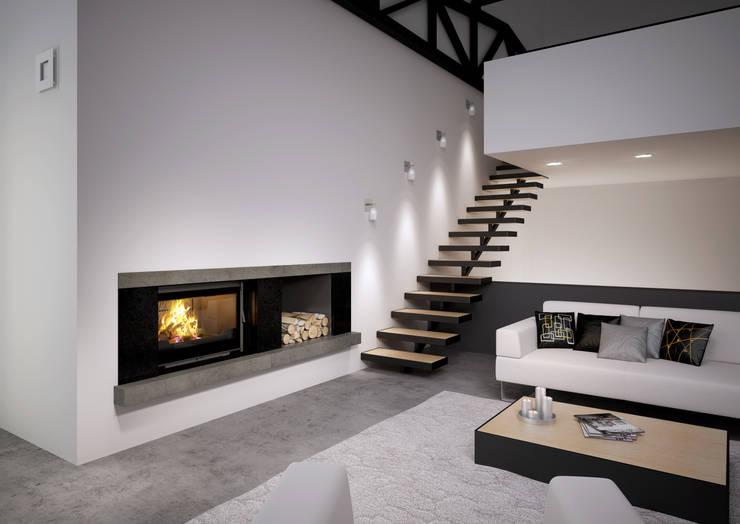 Des foyers pour r chauffer votre salon - Modele de cheminee moderne ...